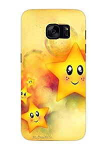 MiiCreations 3D Printed Back Cover for Samsung Galaxy S7,Cartoon