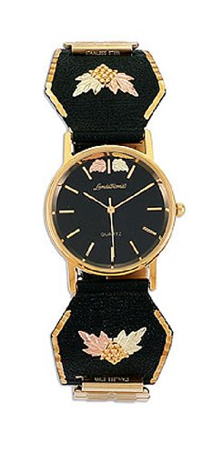 Landstroms Mens Wrist Watch with Black Hills Gold Band - MWB9218-BLK-09249
