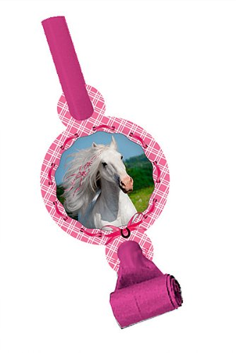 Creative Converting 021601 Heart My Horse Blowouts with Meda