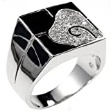 K Design Block Swirl Cocktail Ring