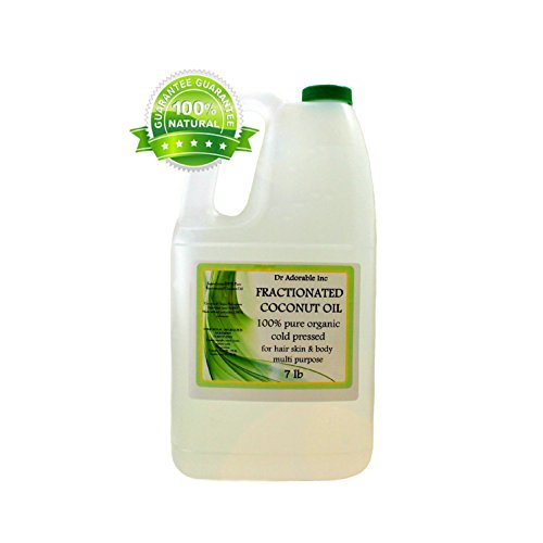 Organic Pure Fractionated Coconut Oil 7 Lb / One Gallon