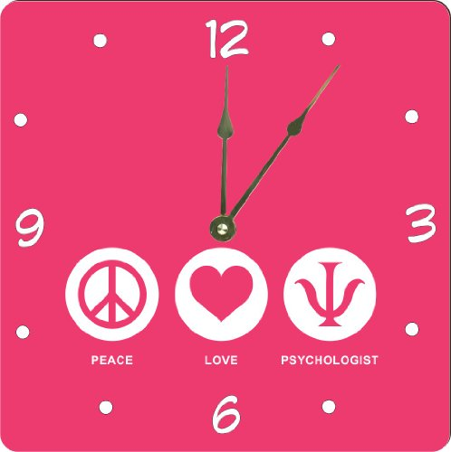 "Rikki Knighttm Peace Love Psychologist Tropical Pink Color Design 13"" Art Wall Clock front-605898"