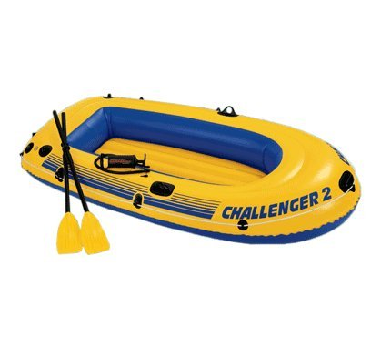Intex Challenger 2 Boat Set - two man inflatable dinghy with oars and pump #68367