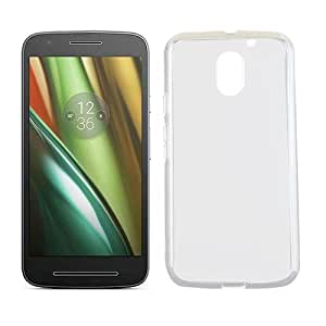 Plus Soft 0.3mm Ultra Thin Transparent Clear TPU Soft Back Case Cover For Motorola Moto E3 Power