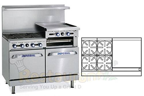 Imperial-Commercial-Restaurant-Range-48-With-4-Burners-24-Raised-Griddle-2-Ovens-Nat-Gas-Ir-4-Rg24