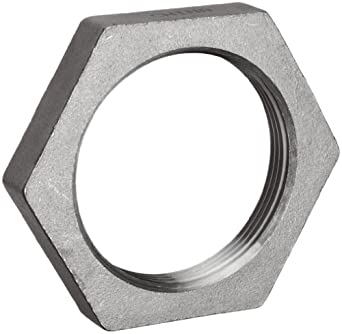 Stainless Steel 304 Cast Pipe Fitting, Hex Locknut, Class 150, NPT Female
