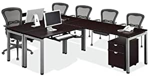 144 2 person l shaped table desk lza391 office desks office products - L shaped desk for two people ...