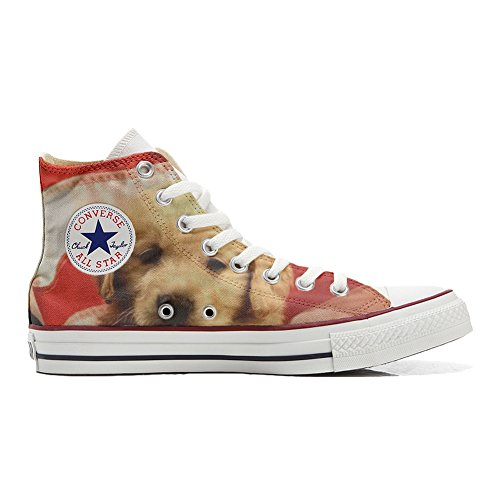Converse PERSONALIZZATE All Star Hi Canvas, Sneaker Uomo/Donna (Prodotto Artigianale) Sweet - TG32