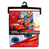 Disney/Pixar Cars 2 Arrows Microfiber Shower Curtain, 72 by 72-Inch