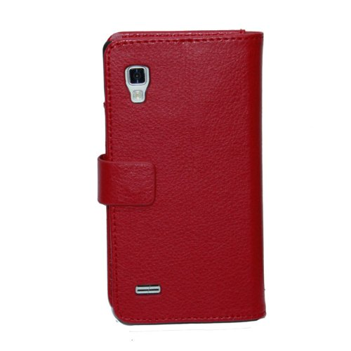 Bingxay For Lg Optimus L9 P760/P765 Red Wallet Stand Pu Antiskid Leather Elegance Cover Case Cover Skin