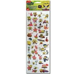Amazon.com: Nickelodeon SpongeBob Squarepants Temporary Tattoos Sheet