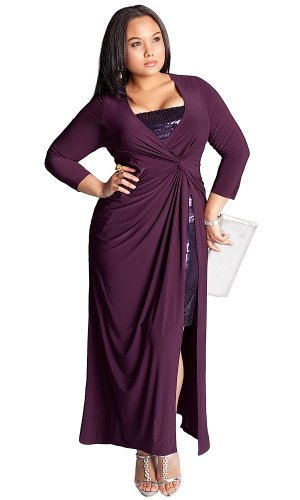 Cheap IGIGI by Yuliya Raquel Plus Size Michelle Gown in Plum