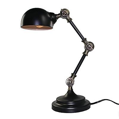 LNC 1-light Vintage Industrial Swing Arm Table Lamp Lighting