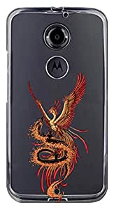 WOW Transparent Printed Back Cover Case For Motorola Moto X(2nd Gen)
