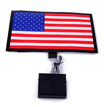HDE Sound-Activated Rave LED Panel w/ Sensor Module - American Flag