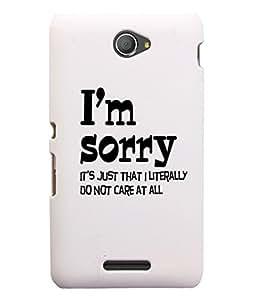 KolorEdge Back Cover For Sony Xperia E4 - White (5602-Ke15104XperiaE4White3D)
