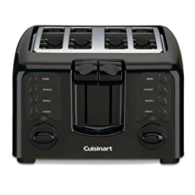 Cuisinart CPT-140BK Compact Cool-Touch 4-Slice Toaster, Black