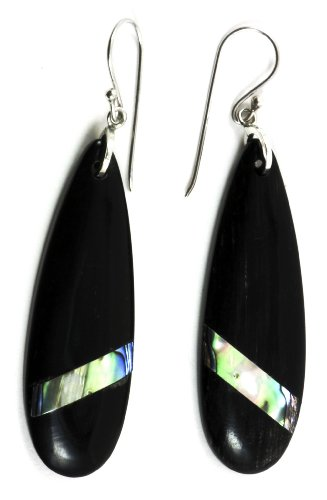 Black Raindrop Earring Organic Jewelry of Bali