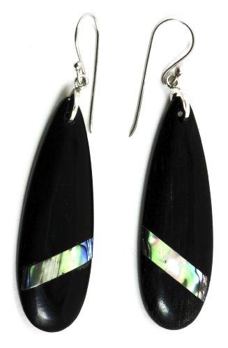 Black Raindrop Earring Organic Jewelry of Bali