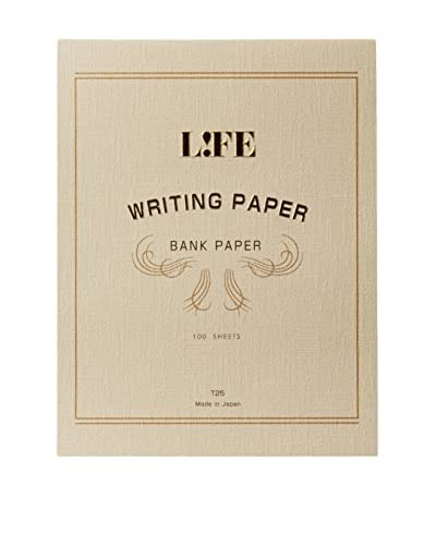 Life Co., Ltd. Bank Paper A4 Writing Paper, Taupe