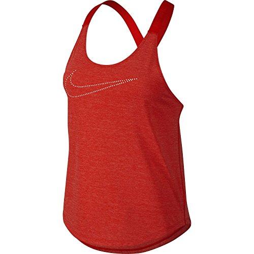 Nike ELASTIKA KEYHOLE VENEER Womens Top Tank (Lt Crimson, XL)