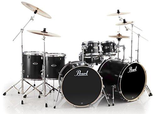 pearl-export-exl727-c256-double-bass-drum-set-matt-black