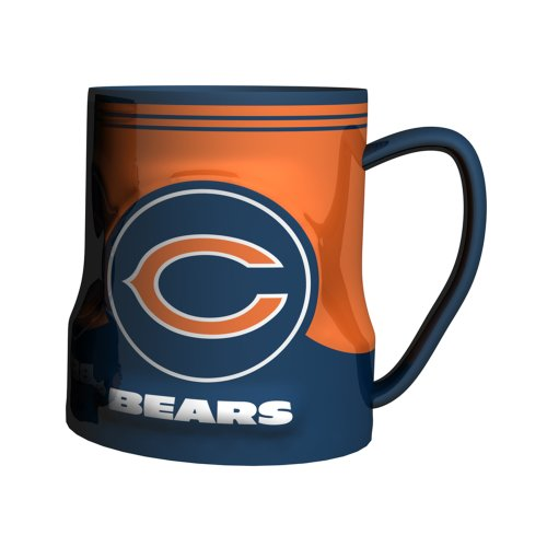 Nfl Chicago Bears Sculpted Game Time Coffee Mug, 18-Ounce