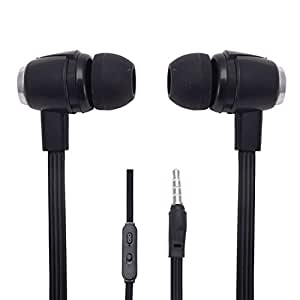 Hello Zone Stereo Bass 3.5 MM Jack Premium Quality Headset Handsfree Headphone Earphone for Micromax Bolt Q339 -Black