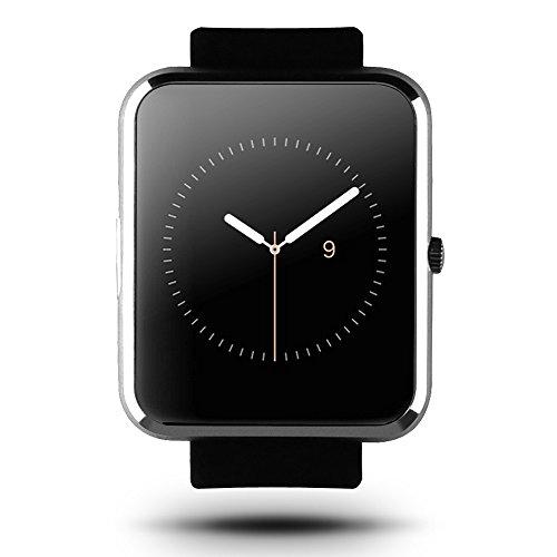 "Haier Smart V1 Iron 1.54 ""LCD Touch Screen MTK2502 Bluetooth 4.0 di Smart Orologio in tempo reale cardiofrequenzimetro cronometro SMS Fitness Tracker per iPhone 6 6S Samsung HTC LG Smartphone"