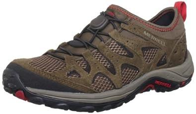 Merrell Mimic Stretch, Men's Hiking Shoes, Dark Earth/Crimson J098310, 7 UK