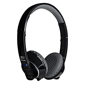 MEElectronics Air Fi Runaway Bluetooth Stereo Wireless + Wired Headphones with Microphone (Black/Gray)