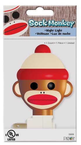Patch Products Sock Monkey Night Light