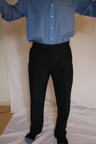 Men's Lightweight Mohair Morning Trousers 50inch Waist 31inch, Navy (C21421.310)