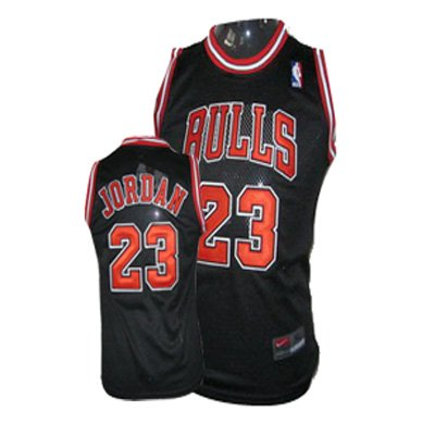 Chicago Bulls, Michael Jordan, Nike Jersey Size Large Black Bulls New with Tags