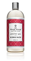 Deep Steep Liter Bubble Bath, Passion Fruit Guava, 33.8 Fluid Ounce