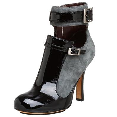 Modern Vintage Women's Evanise Ankle Bootie,Grey/Black,10 M US