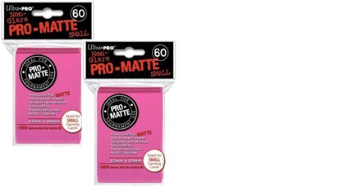 Ultra Pro Pro-matte Small (120 Count) Bright Pink Deck Protector Sleeves - Yugioh - 1