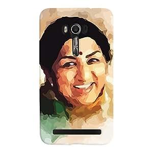 ColourCrust Asus Zenfone Go Mobile Phone Back Cover With Lata Mangeshkar - Durable Matte Finish Hard Plastic Slim Case