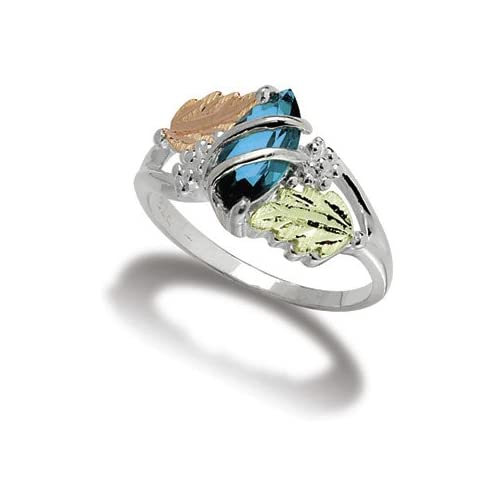 Women Sterling Silver Genuine Blue Topaz Ring