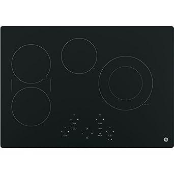 "GE JP5030DJBB 30"" Black Electric Smoothtop Cooktop"