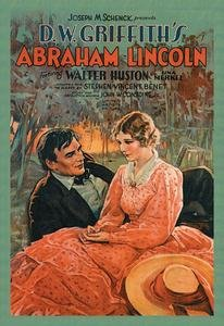 """Paper poster printed on 12"""" x 18"""" stock. D.W. Griffith's Abraham Lincoln"""