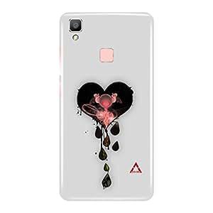 a AND b Designer Printed Mobile Back Cover / Back Case Cover For Vivo V3