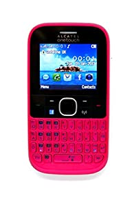 Alcatel Onetouch 3020 D Dual Sim QWERTY Mobile Phone Sim Free, Unlocked with Facebook Button (Hot Pink)