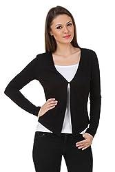 Texco women black blazer shrug