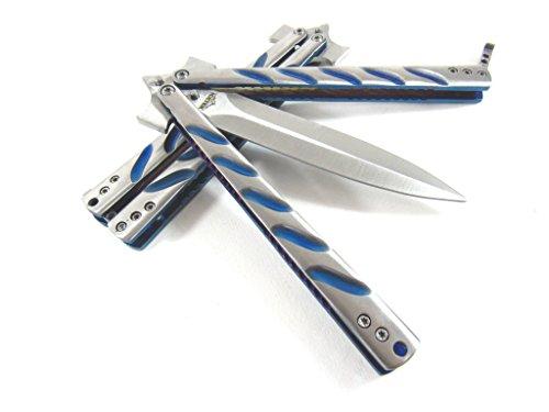 "Icetek Sports Practice Trainer Knife (No Offensive Blade), 5"", Blue"