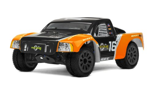 Mad Gear 1/16 Mini Electric Short Course RC Truck 2.4ghz Ready to Run (Orange)
