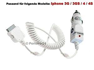 KFZ Ladekabel für Apple iPhone Ladegerät 12/24V