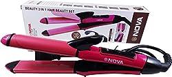 Nova cd 73 hair straitner plus curler with ceremic plate
