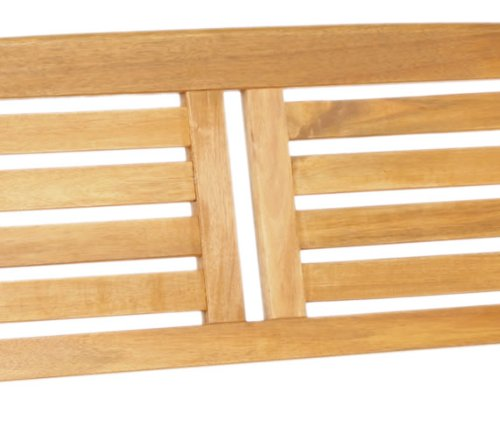 Pair of 2 Seater Folding Wooden Garden Benches - Slatted Outdoor Furniture Patio