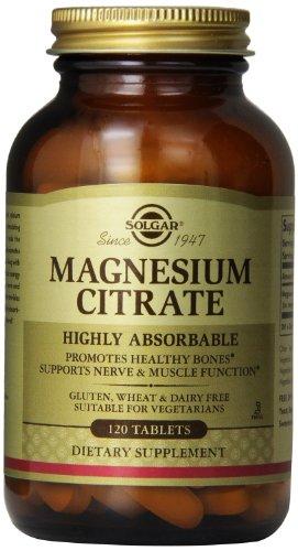 Solgar citrate de magnésium comprimés, 120 Count